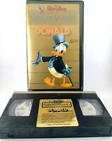 Donald Cartoon Classics Vintage Gold Edition VHS Walt Disney Clam Shell case