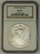 1986 American Silver Eagle $1 Coin ASE NGC MS-69 Near Perfect