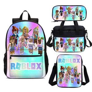 Rainbow Roblox Girls School Backpack Cooler Lunch Bag Shoulder Bag Pen Case Lot