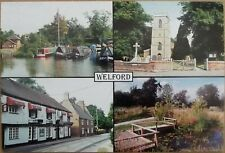 More details for welford, multi view colour postcard, unposted