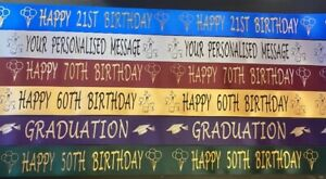 38MM Happy Birthday & Anniversary , Christmas,Ribbon  Various colours