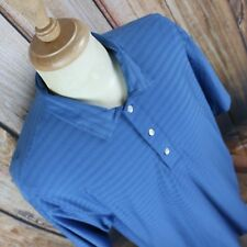 Nike Tiger Woods Men's Large Fit Dry S/S Solid Blue Polo Golf Shirt