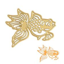 Gold Fish Stencil Embossing Cutting Dies DIY Metal Scrapbooking Album Card Decor
