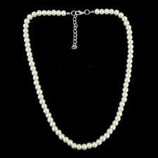 Girls/child Cream Glass Pearl necklace