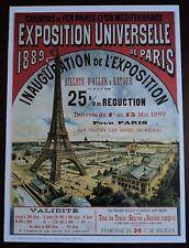Vintage France Poster EXPOSITION UNIVERSELLE DE PARIS- la Vie du Rail