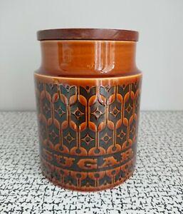 70s Vintage Retro Hornsea Pottery Brown Heirloom Tall Sugar Storage Jar MCM