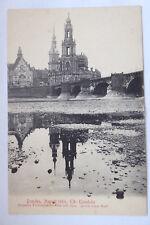 AK Dresden Elb-Klondyke 1904 Blick zur Hofkirche