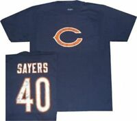 Chicago Bears Gale Sayers Reebok Throwback Pro Style T Shirt Clearance $30.00