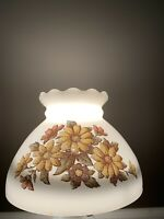 "Vintage Milk Glass Hirricane Parlor Shade W/ 8"" Fitter"
