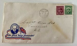 1945 WW2 Patriotic VIctoria BC to Gault Bros Ltd Vancouver BC