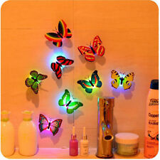 7 Color Changing 3D Butterfly LED Night Light Lamp Kid's Room Party Xmas Decor
