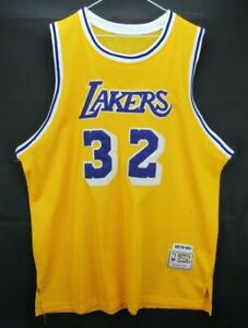 Mitchell Ness Magic Johnson Lakers Jersey 1979-80 Hardwood Classics