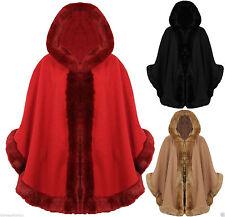 Unbranded Women's Faux Fur Hip Length Casual Coats & Jackets
