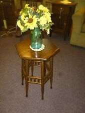 Antique Oak Stand Table Plant , Lamp, Fern refinished stick & ball rope twist