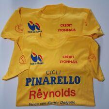 Two (2) Vintage Tour de France Pinarello Reynolds T-Shirts Pedro Delgado