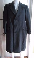 Vintage HART SCHAFFNER & MARX Mens WOOL Herringbone Tweed Long Peacoat Coat S M