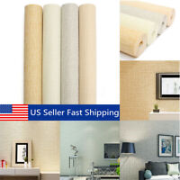 10M Modern Non-woven Plain Particle Roll Wallpaper Bedroom Home Room Wall Decor