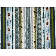 Bear Lake Forest  Michael Miller Fabric 1/2m or More 100% Cotton