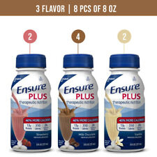 Ensure Plus 3 Flavor 8 oz (8 Count) Fast Free Expedited Shipping