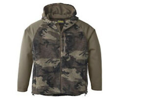 Cabela's Men's Berber Fleece Hybrid Jacket Outfitter Brown Camo Hunting Jacket