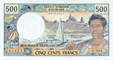 French Pacific Territories P-1a 500 francs (1992) UNC