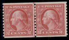 US #454, 2¢ red, Joint Line Pair, og, LH, F/VF, Miller certificate, Scott $400.
