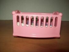 Dollhouse Pink Baby cradle  w Blanket Nursery Furniture for Loving Family