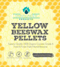 Yellow Beeswax Pellets Cosmetic Grade A Organic 480g Tripple Filtered 100% natur