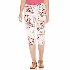 St. John's Bay Women's Capri Floral Print Size 18 Secretly Slender New