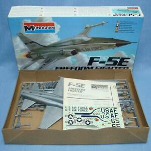MONOGRAM AIRPLANE MODEL KITS LOT X5 | F-80 F-5E F-84F F-86 F-16 SABERJET FALCON