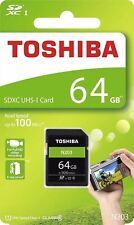 Toshiba 64GB SDXC UHS-I U1 Class 10 100MB/s Memory Card