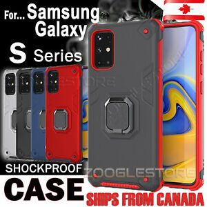 For Samsung Galaxy S10 S20 S9 S10e Plus Case Heavy Duty 360 Magnetic Ring Cover