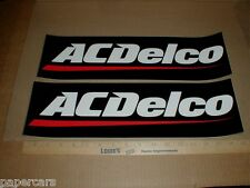 "2 AC Delco Dealer Battery NASCAR Drag Racing 17"" Sticker Decals Chevy Chevrolet"