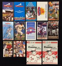 14 x DIFFERENT CALGARY CANNONS AAA PCL POCKET SCHEDULES SEATTLE MARINERS AFFIL