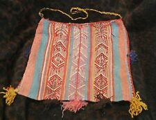 "An Antique Aymara Oruro Region Chuspa Bag 611 3/4""h x 12 3/4""w - Bolivia -"