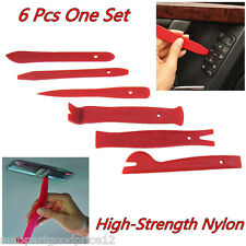 6 Pcs Nylon Car Interior Trim Door Panel Dash Centre Console Pry Open Tools Kit