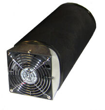 "6"" CARBON FILTER AND FAN COMBO WITH 130 CFM FAN  REMOVES ODORS * REFILLABLE *"