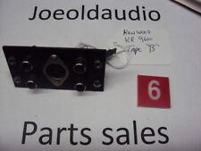 "Kenwood KR 9600 Original RCA Jack Panel Tape ""B"" Tested. Parting Out KR 9600"