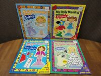 Lot of 4: My Dolly Dressing. 2 dolls and over 40 press-outs in each book.
