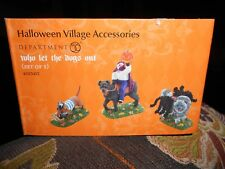 DEPT 56 HALLOWEEN Accessory WHO LET THE DOGS OUT? NIB