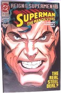 COMICS: DC -  SUPERMAN : THE MAN OF STEEL #25  -1993  1st Print