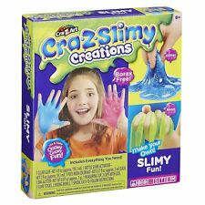 Crazy Slime Creations KIT CRA Z viscido Divertente Set Glitter Colla Attivatore Borace libero