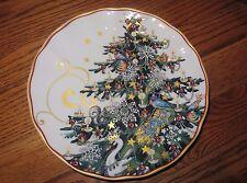 4 Williams Sonoma Twas the Night Before Christmas Tree salad plates