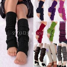 Ladies Womens Knitted Knit Dance Leg Warmers Socks Stocking Legging Boot Covers