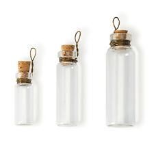 Steampunk Clear Laboratory Bottle Charms 3 Sizes - Jewelry Finding