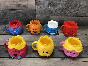 Mr Men Little Miss Beakers / Cups x 7 McDonalds Happy Meal Collectables 2019/20
