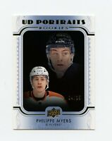 19/20 UPPER DECK UD PORTRAITS BLUE ROOKIE RC #P-49 PHILIPPE MYERS 04/25 *66503