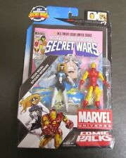 Iron Man and Spider-Woman MARVEL UNIVERSE Comic Packs Hasbro MIB