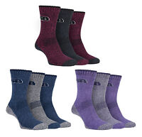 Storm Bloc - 3 Pack Ladies Padded Lightweight Summer Walking Hiking Boot Socks