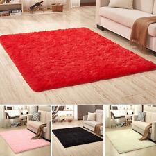 FJ- WO_ Living Room Soft Shaggy Area Rug Non-slip Fluffy Rugs Floor Mat Bedroom